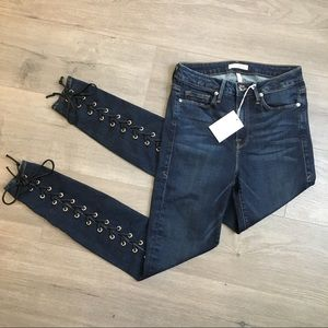 Good American Good Legs Jeans Back Lace Up Tie